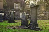 image of graveyard  - Greyfriars Kirkyard graveyard in Edinburgh - JPG