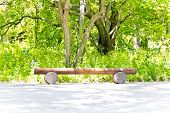 picture of pews  - Photo of summer landscape with empty pew - JPG