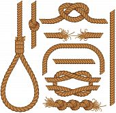 picture of gallows  - Set of seamless Rope elements  - JPG