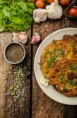 image of cumin  - Fried potato pancakes with garlic and marjoram sprinkled cumin chive and coarse - JPG