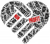 stock photo of profit  - Non profit organization or business - JPG