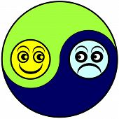 image of depressed  - Alternation of the emotional state between euphoria and depression as part of bipolar disorder or menopause - JPG