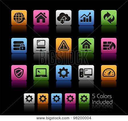 Web Developer Icons // ColorBox Series ---- The Vector file includes 5 color versions for each icon in different layers --