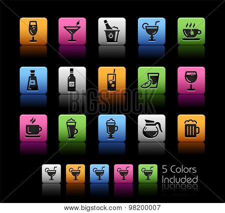 Drinks Icons // ColorBox Series ---- The Vector file includes 5 color versions for each icon in different layers --