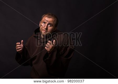Portrait of the actor in the form of Quasimodo