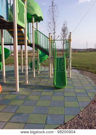 Modern Children Playground Slide