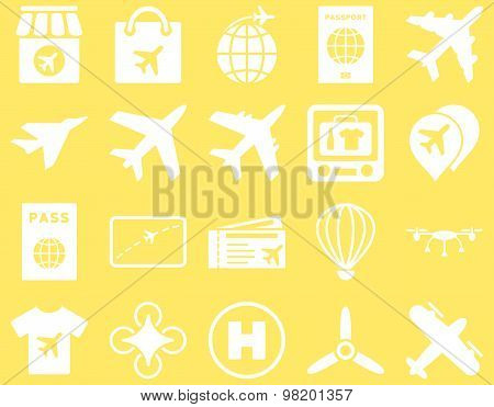 Airport Flat Icons