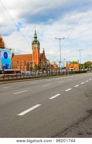 Historic Railway Station In Gdansk, Poland