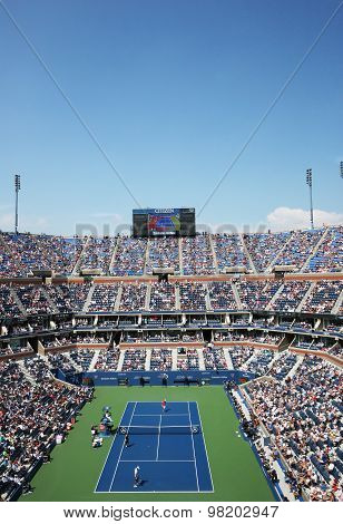 Arthur Ashe Stadium during US Open 2014 match