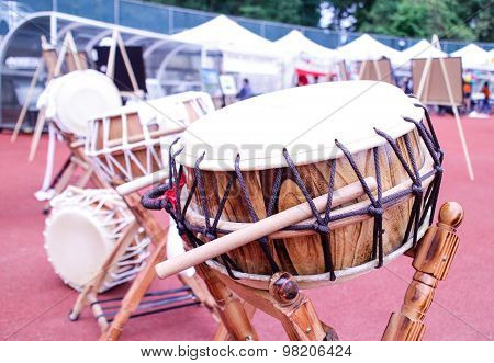 Korean Drum At Festival Grounds