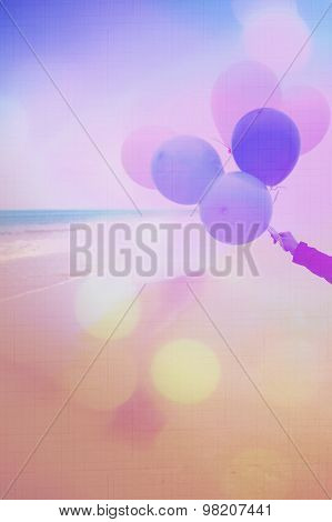 Artistic Background With Colorful Baloons