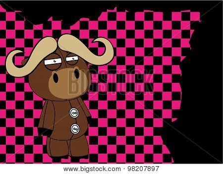 cartoon plush baby water bull background