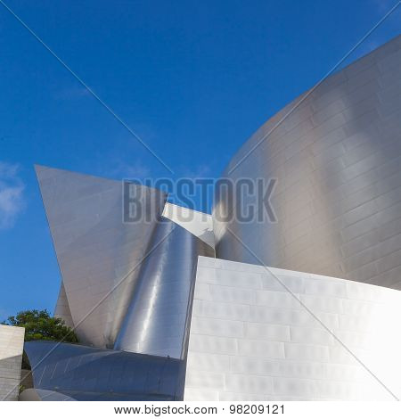 LOS ANGELES - JULY 26: Walt Disney Concert Hall in Los Angeles, CA on July 26, 2015. The concert hal