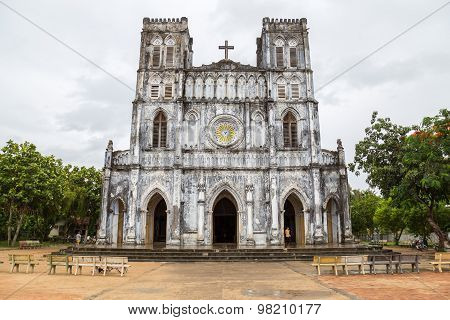 Century old cathedral (Mang Lang Church) in Phu Yen province, Vietnam