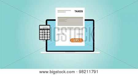 Online payment  taxes