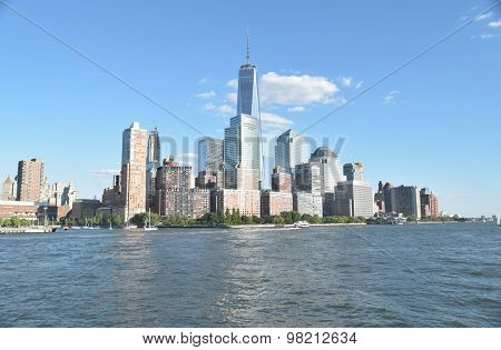 Freedom Tower in lower Manhattan, New York USA