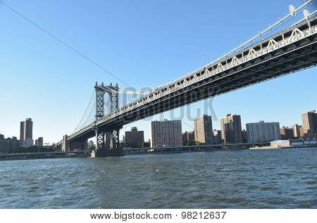 New York Bridge over Hudson River in New York, USA