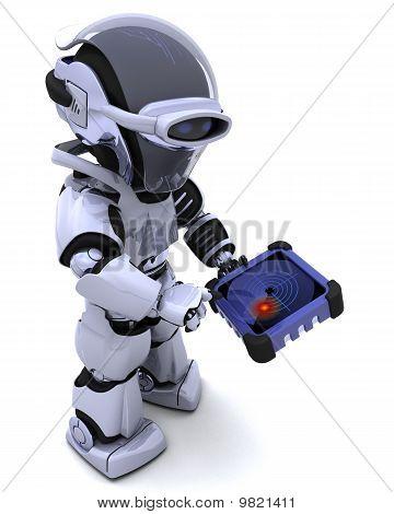 Robot With Gps Radar Tracker
