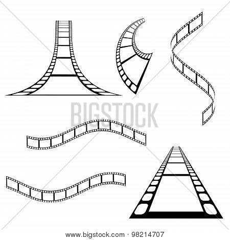 Vector film strip background collection