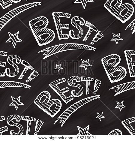 Best word vector chalk seamless pattern.