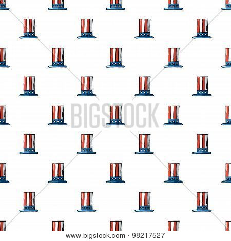 Uncle Sam hat seamless pattern.