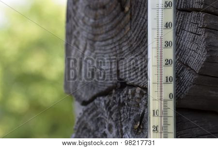 Hot Weather And Thermometer
