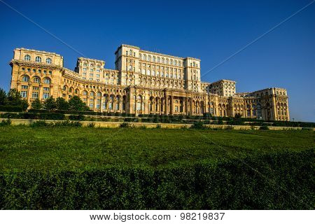 Parliament building in Bucharest