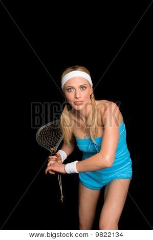 Blond Squash Player