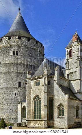 Castle Of Chateaudun In Eure Et Loir
