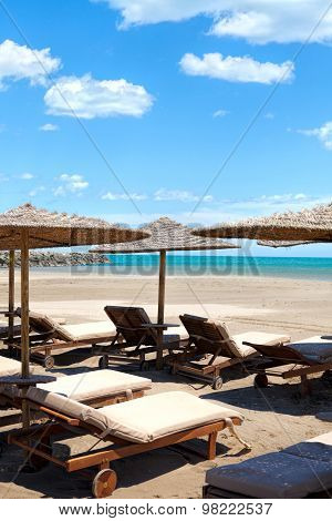 Beach Chairs And Sunshades