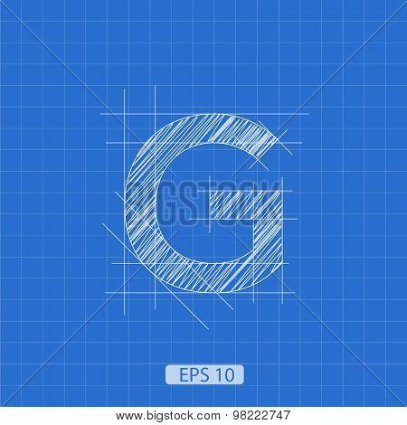 G letter architectural plan