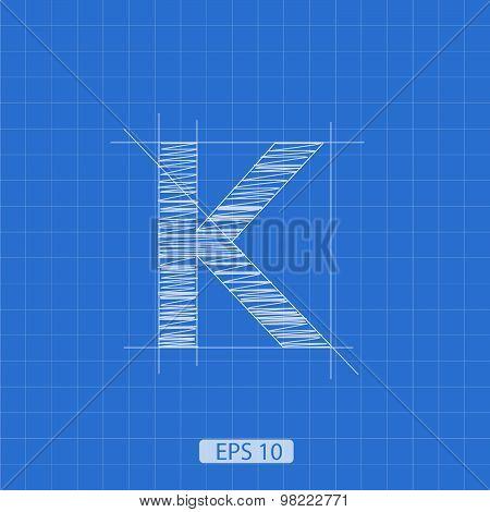 K letter architectural plan