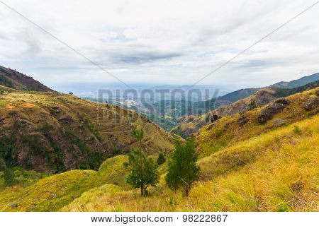 Landscape In The Hill Country Of Sri Lanka