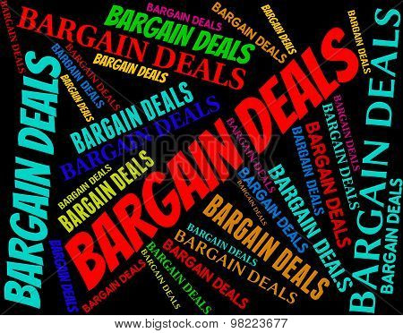 Bargain Deals Indicates Words Contract And Transactions