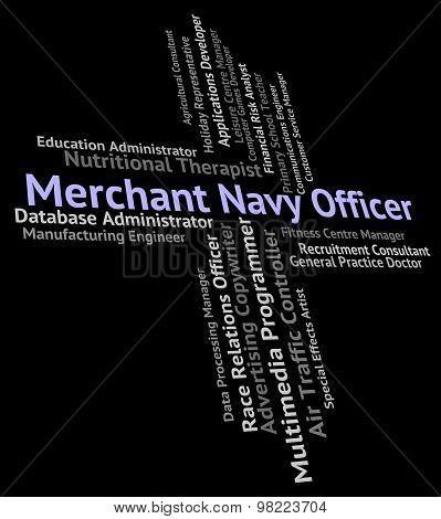 Merchant Navy Officer Represents Officials Aquatic And Ocean
