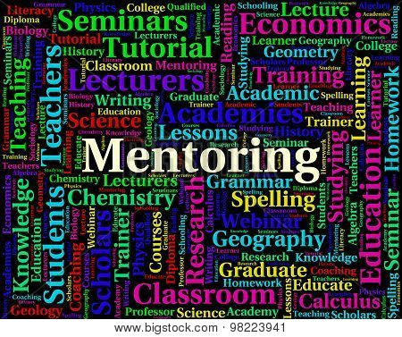Mentoring Word Represents Confidante Confidantes And Counsellors