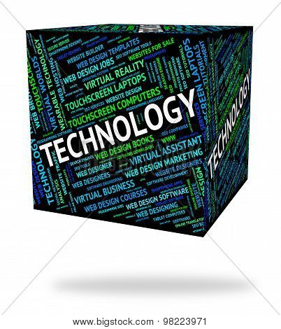 Technology Word Means Technologies Electronic And Words