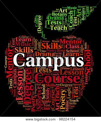 Campus Word Represents Academies Faculty And Institute