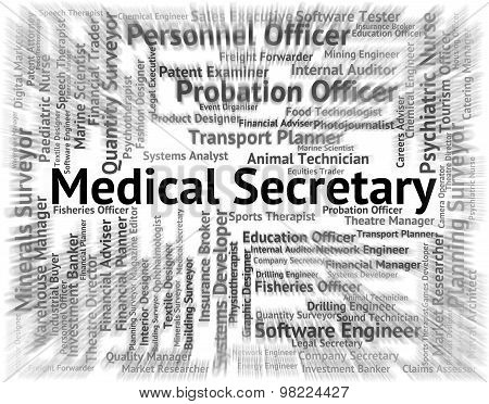 Medical Secretary Represents Personal Assistant And Pa