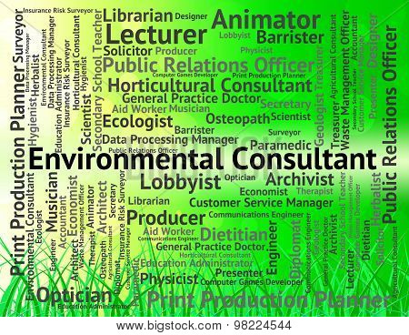 Environmental Consultant Means Environmentally Earth And Occupation