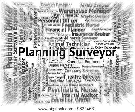 Planning Surveyor Means Recruitment Text And Surveys