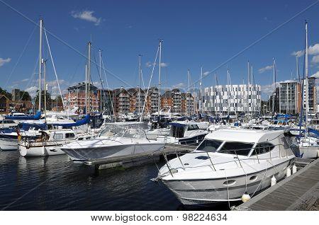 Yachts In Ipswich Marina