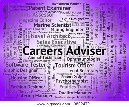 Careers Adviser Indicates Advisor Work And Trainer