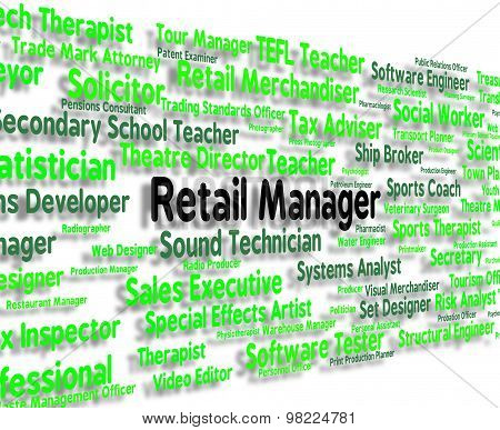 Retail Manager Means Employment Commerce And Managing