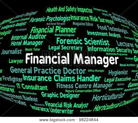 Financial Manager Indicates Employee Occupations And Profit