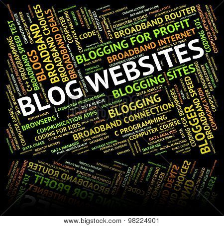 Blog Websites Indicates Domain Words And Online