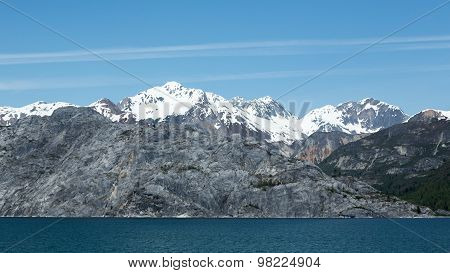 Mountains in Alaska's Glacier Bay