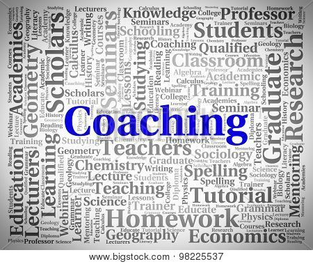 Coaching Word Means Give Lessons And Seminar