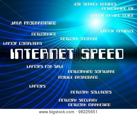 Internet Speed Means World Wide Web And Fast