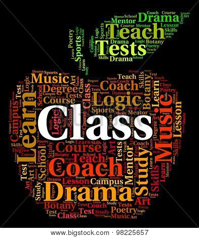 Class Word Indicates Classrooms Text And Education